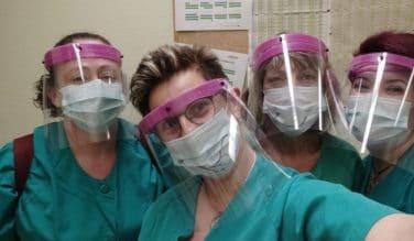 Crean en Bilbao pantallas protectoras para el personal sanitario de Euskadi
